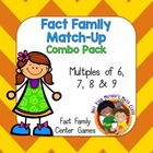 Fact Family Match Up: Multiples of 6, 7 and 8