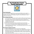 Fact Family Stars Math Center/ Activity