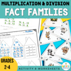 Fact Family Triangles for Multiplication and Division