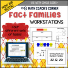 Fact Family Workstations: Concrete, Representational, Abstract