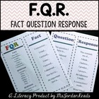 Fact Question Response (FQR): A Comprehension Strategy for