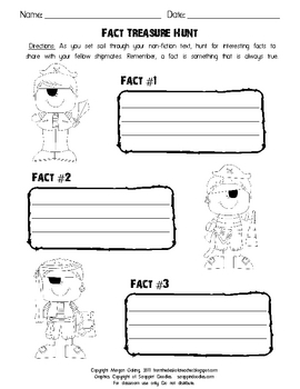 Fact Treasure Hunt Graphic Organizer
