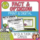 Fact and Opinion Task Cards: 32 Multiple Choice Sentence Cards