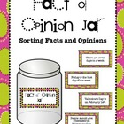 Fact or Opinion Jar for Workstations and Centers