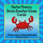 Factor Frenzy Brain Booster Game Cards!