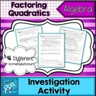 Factoring Quadratics Investigation Packet
