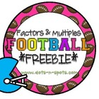 Factors &amp; Multiples Football *Freebie*