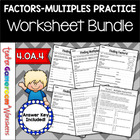 Factors &amp; Multiples Packet