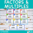 Factors and Multiples Posters for 2-12