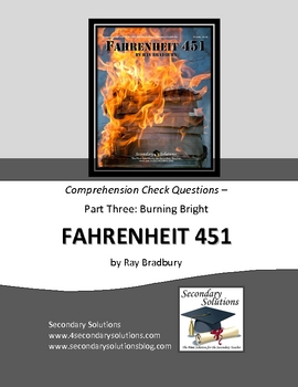 Fahrenheit 451 Part Three Study Guide Questions