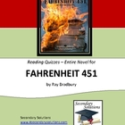 Fahrenheit 451 Reading Quizzes - Entire Novel