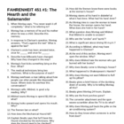 Fahrenheit 451--Short Answer Tests