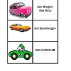 Fahrzeuge (Vehicles in German) concentration game