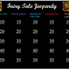 Fairy Tale Jeopardy Game