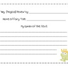 Fairy Tale Response Sheet