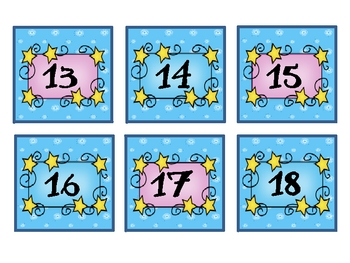Fairy Tale Theme Calendar Numbers