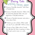 Fairy Tale Theme Writing Center