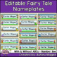 Fairy Tale Themed Nameplate Deskplate Nametags