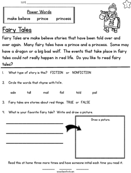 Fairy Tale Week Long Fluency Packet