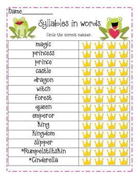Fairy Tale Word Work and Writing for Primary Teachers