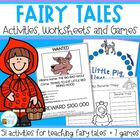 Fairy Tales: comprehension, writing activities and board games