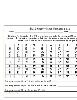 Fall 1-200 Number Game