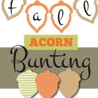 Fall Bunting Mega Pack-(Acorn theme, Alphabet, Numbers, and More)