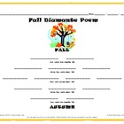 Fall Activity Pack - Autumn Diamante Poem