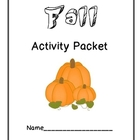 Fall Activity Packet