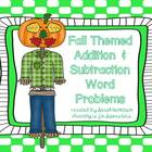 Fall Addition & Subtraction Word Problems
