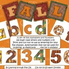 Fall Alphabet and Numbers (26 lower case letters and numbers 0-9)