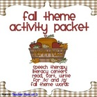 Fall Autumn Theme Speech Therapy Articulation Packet for /k/ /g/