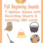 Fall Beginning Sound Spinner Games, Recording Sheets and C
