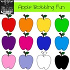"Fall Apple Clipart ""Apple Bobbing Fun"" (for personal and c"