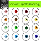 "Fall Eyeball Clipart ""Zombie Ophthalmology"" (for personal"