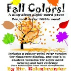 Fall Colors sight-word song and poster printable