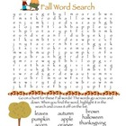 Fall Creative Activities - Word Search, Creative Writing,