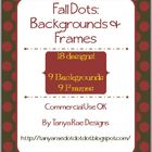 Fall Dots: Backgrounds &amp; Frames (Commercial Use OK)