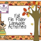 Fall Early Language File Folder Activities!