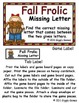 Fall Frolic Missing Letter File Folder Game