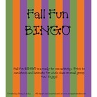 Fall Fun BINGO