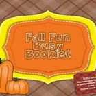 Fall Fun Busy Booklet {Perfect for Early Finishers}