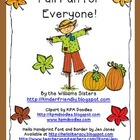 Fall Fun Centers for Kindergarten