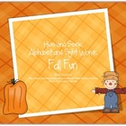 Fall Fun Hide and Seek Alphabet and Sight Words Game