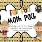 Fall Fun Math Pack (Math Centers for First Grade)