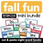Fall Fun Mini Bundle of Interactive Sight Word Readers
