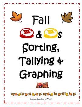 Fall & Halloween M&M Sorting, Tallying & Graphing Center