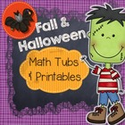 Fall & Halloween Math Centers and Printables