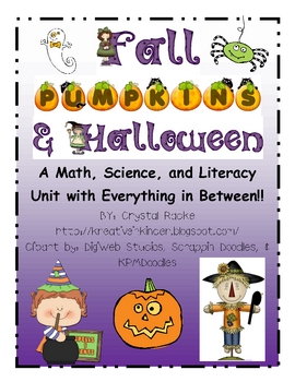 Fall, Halloween, & Pumpkins Centers & Printables Unit