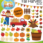 Fall Harvest Clip Art — Over 65 Graphics!